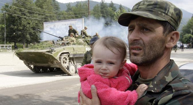 Fünf Jahre nach dem Augustkrieg bewegt Georgien sich einen Schritt auf Russland zu. Foto: Reuters