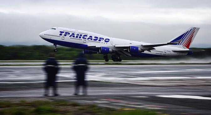 Transaero aircraft. Source: Yriy Smituk\TASS