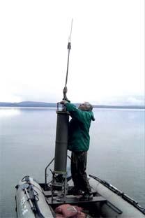 Instalação de APS em ponto aquático para delimitar a área a ser monitorada Foto: mkb-kompas.ru