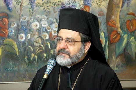 Arcebispo metropolitano da arquidiocese ortodoxa antioquina de São Paulo, Damaskinos Mansour Foto: catedralortodoxa.com.br