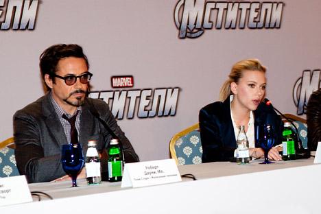 Scarlett Johansson  em Moscou Foto: TASS