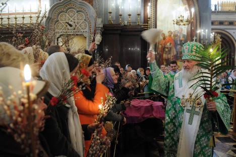 Cerimônia especial de celebração de Páscoa Foto: RIA Nóvosti