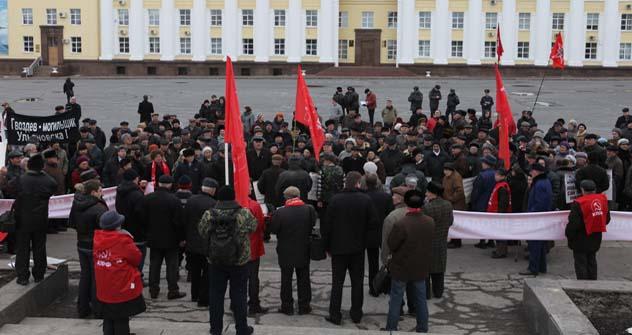 No sábado, cerca de 800 moradores de Ulianovsk participaram de uma marcha contra o acordo Foto: TASS