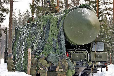 Míssil balístico intercontinental de combustível sólido RS-24 é capaz de romper os escudos antimísseis já existentes e aqueles que forem construídos no futuro Foto: function.mil.ru