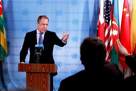 Ministro das Relações Exteriores russo Serguêi Lavrov Foto: Reuters
