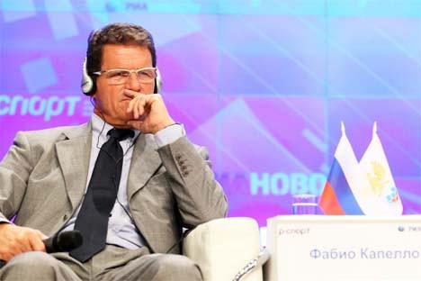 """""""Estou orgulhoso, pois a Rússia tem um grande potencial"""", disse Capello. Foto: RIA Nóvosti"""