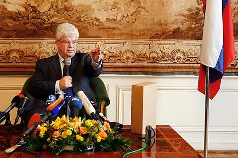 Vladímir Tchijov é embaixador extraordinário e plenipotenciário, representante permanente da Federação da Rússia na União Europeia. Foto: Reuters