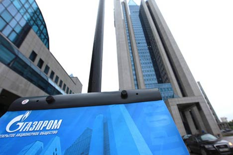 Em 2012, a Gazprom ocupou o 31° do ranking Global 500, do jornal britâncio Financial Times. Foto: RIA Nóvosti