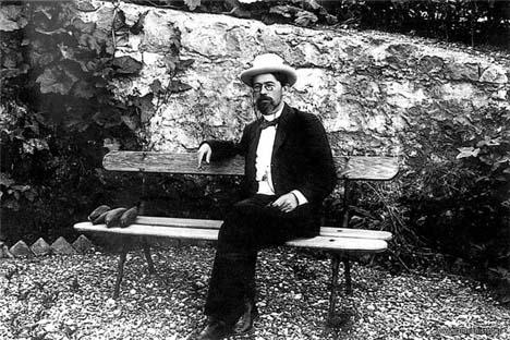O famoso escritor russo Anton Tchékhov. Foto: http://chehov.niv.ru
