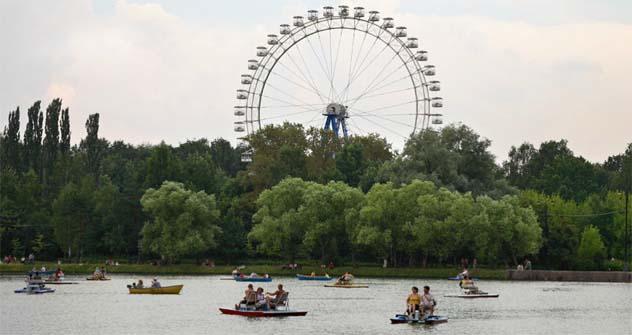 Górki é um dos parques mais famosos e frequentados de Moscou Foto: arquivo pessoal