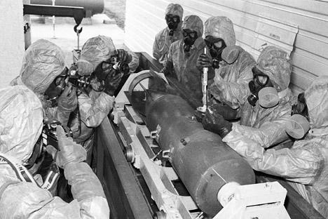Já foram destruídas 26,5 mil toneladas, o equivalente a 66% do estoque de armas químicas. Foto: RIA Nóvosti