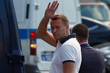 A maioria dos adversários acreditam que os passos da comissão de inquérito deve ser politicamente motivado, Alexei Navalny é um dos principais organizadores das manifestações de massa. Foto: Reuters / Vostok Foto