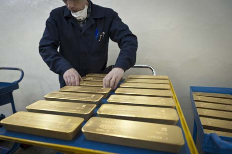 Em julho deste ano, o metal correspondeu a 9,5% das reservasFoto: TASS