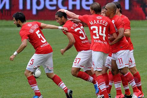 """""""Tenho vergonha de dançar depois do gol"""", disse Rômulo. Foto: TASS"""