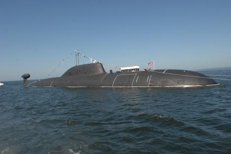 Submarino atômico multifuncional russo do projeto 971 Schuka-B. Foto: TASS