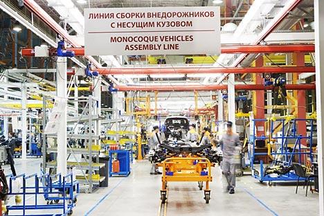 """A produção de automóveis na fábrica Ford Sollers na zona económica especial """"Alabuga."""" Foto: Ford Sollers"""