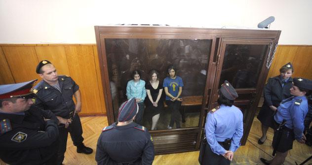Cantoras foram detidas em março deste ano Foto: RIA Nóvosti