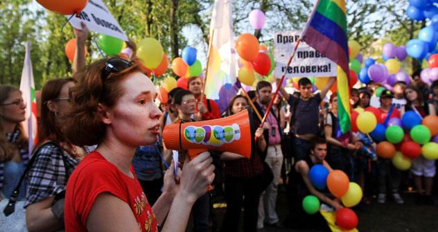 Cerca de 40 manifestantes foram detidos em maio durante tentativa de protesto LGBT em Moscou Foto: ITAR-TASS