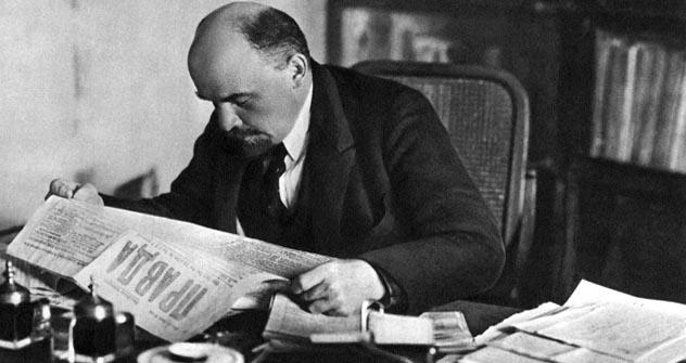 Vladímir Lênin em seu escritório. Foto: Itar-Tass
