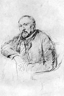 Retrato do Lesko feito pelo Repin