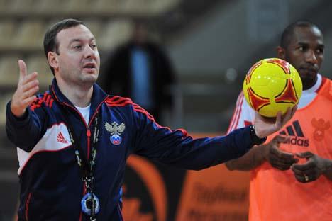 Treinador da seleção russa de futsal, Serguêi Skoróvitch. Foto: RIA Nóvosti