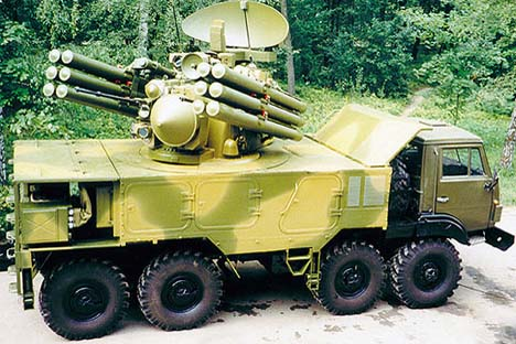 Sistema de mísseis antiaéreos Pancir. Foto: mil.ru