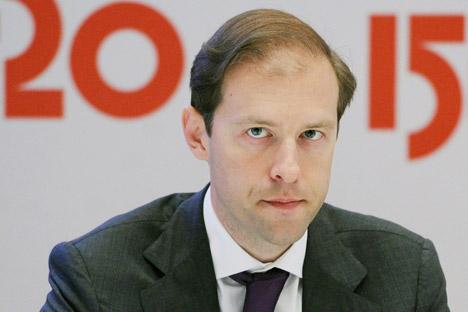 O ministro da Indústria e do Comércio da Rússia, Denis Mantúrov. Foto: TASS