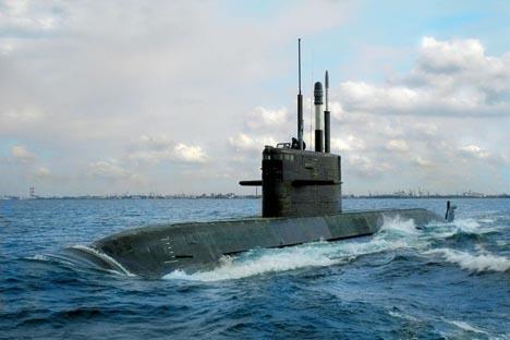 "Submarino do projeto 677 ""Lada"". Foto: ckb-rubin.ru"