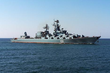 Cruzador porta-mísseis Moskva. Foto: flot.sevastopol.info