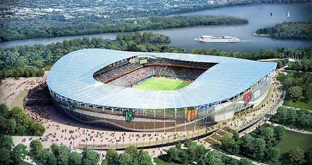 Projeto do novo estádio na cidade russa Kazan. Foto: TASS
