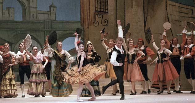 Viatcheslav Gordeev  no balé Dom Quixote. Foto: RIA Nóvosti