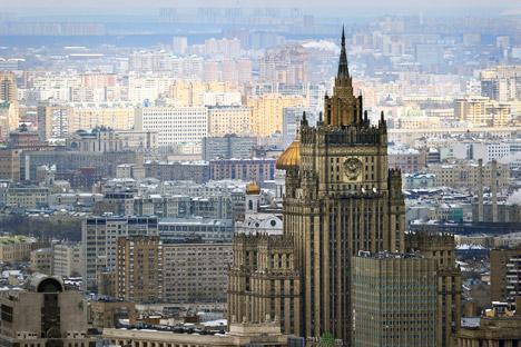Edifício do Ministério dos Negócios Estrangeiros russo. Foto: AFP