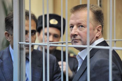 Nikolai Riabikh, diretor do departamento de apoio logístico da pasta, foi preso após um interrogatório do processo contra a empresa Slavianka. Foto: RIA Nóvosti