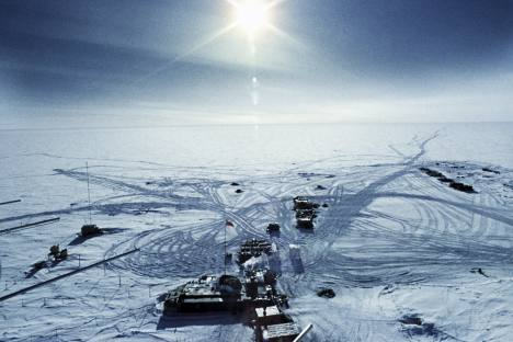 Estações antártica Vostok. Foto: RIA Nóvosti