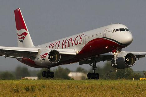 Tu-204 da companhia aérea econômica Red Wings. Foto: Divulgação