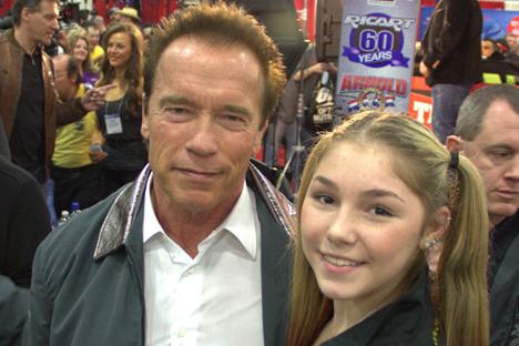 Mariana Naumova foi parabenizada pelo ator Arnold Schwarzenegger. Foto: mst.mosreg.ru