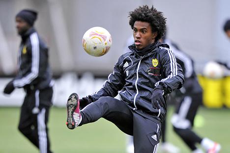 Entre os novos nomes está Willian, de 24 anos, que tornou-se o jogador mais caro da janela de transferências de inverno da Europa. Foto: fc-anji.ru