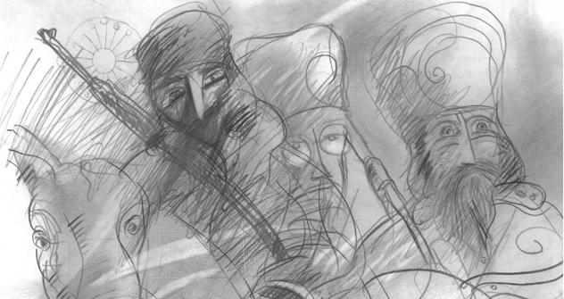 Cossacos, ilustração do  livro