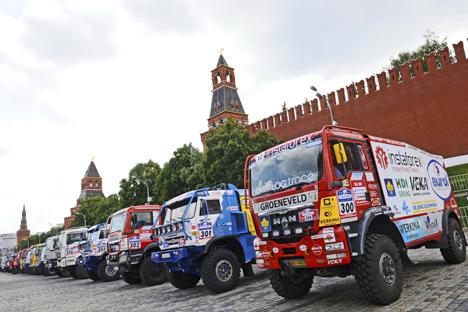 Caminhões da Kamaz já venceram várias vezes o rally Dakar Foto: AP