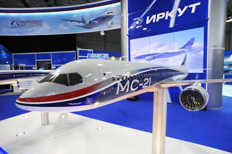 Novo avião de passageiros de alcance médio MS-21 interessa às companhias latino-americanas Foto: ITAR-TASS