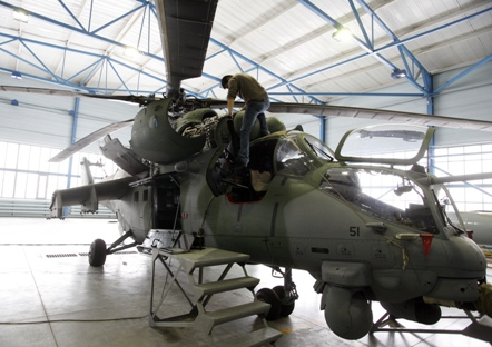 """Último lote de três helicópteros de ataque foi adiado devido a """"problemas técnicos"""" Foto: RIA Nóvosti"""