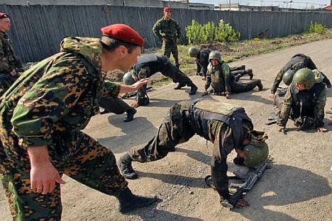 Aumento do número de soldados sob contrato no exército não levará à revogação do serviço obrigatório Foto: Serguêi Chaprán