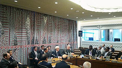 Sala russa na sede da ONU Foto: RIA Nóvosti