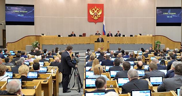 Duma, câmara baixa do parlamento russo do Foto: RIA Nóvosti / Aleksei Nikólski