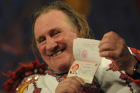 Ator Gerard Depardieu adquiriu cidadania russa como protesto contra ameaças de aumento nos impostos franceses Foto: ITAR-TASS