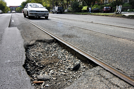 Reparo das vias na Rússia é notoriamente ineficiente Foto: ITAR-TASS