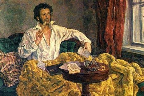 Poeta russo Aleksandr Púchkin, nascido há exatos 214 anos, também é muito conhecido no velho continente Foto: Press Photo