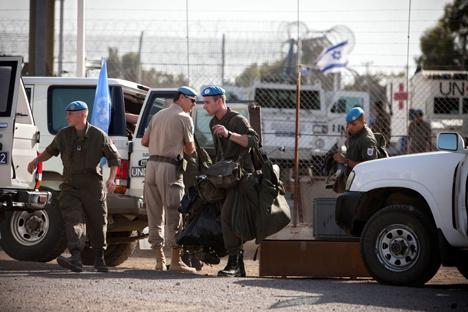 Autoridades israelenses apoiam o envio de forças de paz russas para as Colinas de Golã, substituindoas forças austríacas Foto: AP