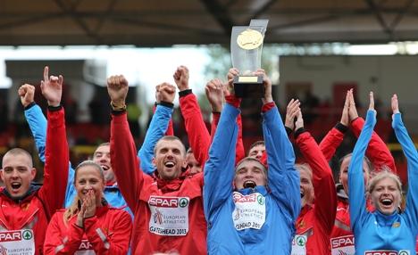 No último domingo (23), a seleção russa, mais uma vez, sagrou-se campeã, com 22 medalhas– dez ouros, oito pratas e quatro bronzes Foto: AP