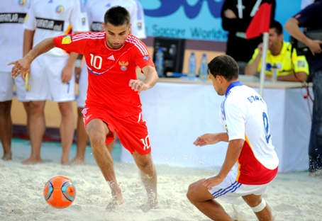 Equipes da Rússia e do Brasil de futebol de praia já se enfrentaram várias vezes Foto: Photoshot/Vostock-Photo